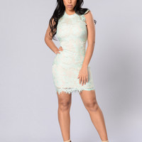 Young Love Dress - Mint