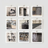 Paris Photo Collection 5x5 Black by littlebrownpen on Etsy