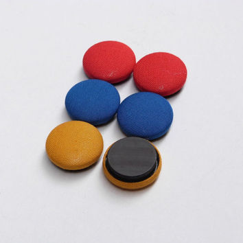 ON SALE Primary Colors Magnets Set of 6, Minimalist Home Decor Red Blue and Yellow, Eco Gift for Kids, Fun Fridge Magnets