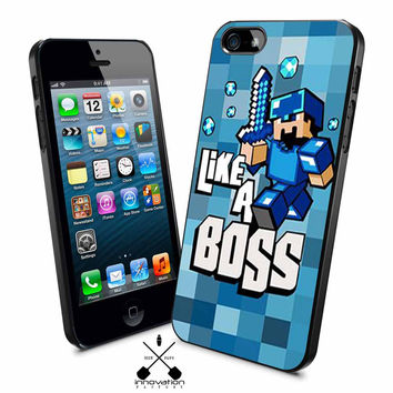 Minecraft Like A Boss iPhone 4s iphone 5 iphone 5s iphone 6 case, Samsung s3 samsung s4 samsung s5 note 3 note 4 case, iPod 4 5 Case
