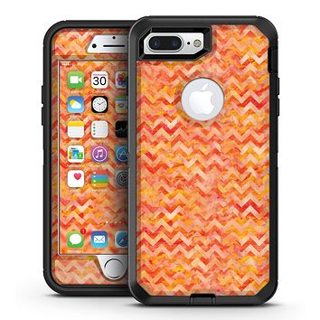 Orange Basic Watercolor Chevron Pattern - iPhone 7 Plus/8 Plus OtterBox Case & Skin Kits