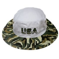 The Rogue Patriot Camo USA Bucket Hat