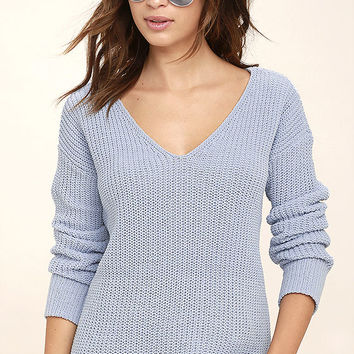 BB Dakota Barlow Light Blue Sweater