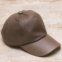 Alabama Shakes Pleather Hat - Taupe