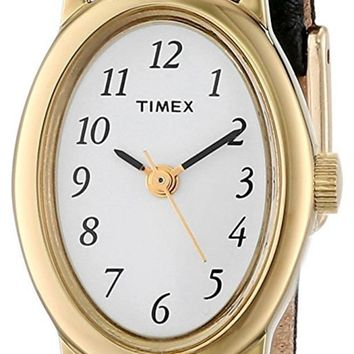 DCCKJY6X Timex Cavatina Leather Strap Watch
