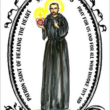 Saint John of God Patron of Healing the Heart 4x6 Prayer Card and Psalm Balm Gift Set