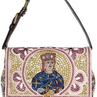 DOLCE & GABBANA Sequin King Dolce Bag