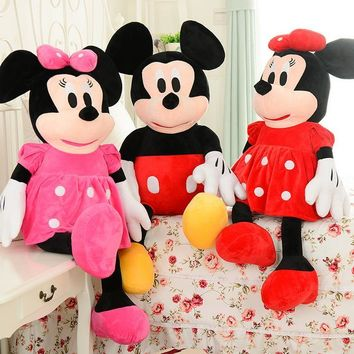 Hot sale 1pc 50cm Mickey Mouse And Minnie Mouse Stuffed Animals Plush Toys For Children's Gift