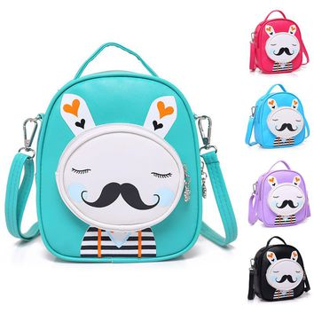 Kids Cute Rabbit PU Messenger Bag Girls Fashion Handbag little girl schoolbag gift children shoulder bags