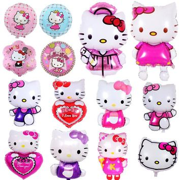 Giant Cartoon Hello Kitty Balloons for Kids Girls Birthday Party Decor Wedding Valentine's Day Layout Kitty Theme Party Supplies