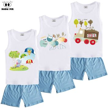 DMDM PIG Christmas Kids Toddler Boys Clothing Sets Costumes Baby Girls Clothes For Boys Children's Sports Suits Size 4 5 8 Years