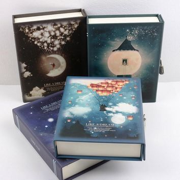 """""""Like A Dream"""" Diary with Lock Notebook Cute Functional Planner Lock Book Dairy Journal Gift Box Package"""
