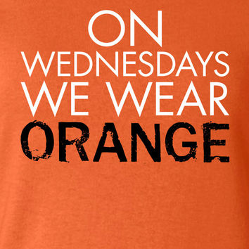 On Wednesdays We Wear Orange Litchfield T-shirt Inspired 50s 60s 70s T-shirt tee Shirt TV show swag Hot Funny Mens Ladies MLG-1097