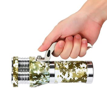 Rechargeable 9000 40W Lumens LED Searchlight Tactical 3T6 Spotlight Outdoor Camping Essential Multi-Function Tools #EW