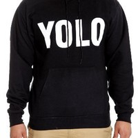 YOLO Black Pullover Hoodie Size : X-Large