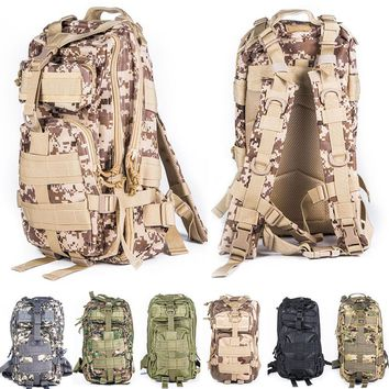 Military Tactical Molle Rucksack Travel Backpack Outdoor Sports Camping Hiking Survival Pack Camouflage Airsoft Hunting Bag