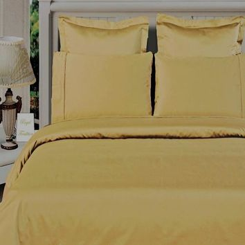 """100% Bamboo Gold Duvet Cover Set """"Silky Super Soft Covers"""""""