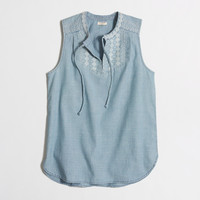 Factory chambray tassel top