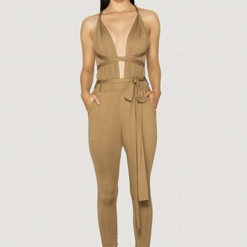 NAVALI JUMPSUIT - TAN - SCK by Sofia Kapiris
