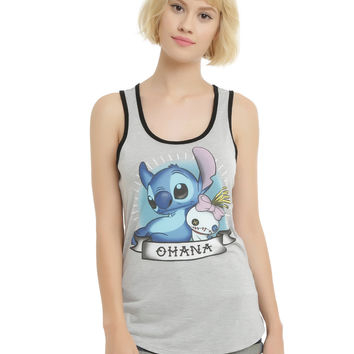 Disney Lilo & Stitch Ohana Banner Girls Tank Top