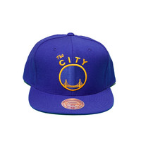Nba San Francisco Warriors The City Solid Snapback In Blue