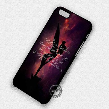 Fairies Quotes Silhouette Tinkerbell - iPhone 7 Plus 6 SE Cases & Covers