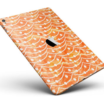 "the Fire Watercolored Polka Dots on a String Full Body Skin for the iPad Pro (12.9"" or 9.7"" available)"