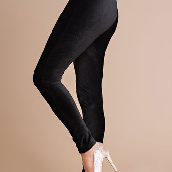Forever Mine Velvet Leggings (Black)