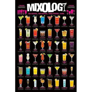 Shooters-Shot Mixing Guide, College Poster Print, 24 by 36-Inch