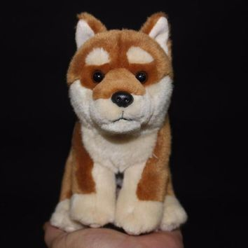 Akita Dog Stuffed Animal Plush Toy 6""
