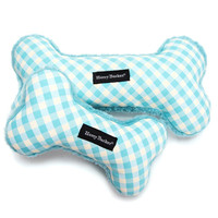Gingham Bone Canvas Toy | Blue