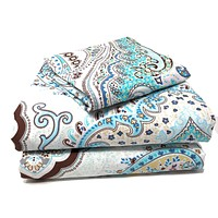 Tache Cotton Frozen Forest Blue Paisley Fitted Sheet (2172FIT)