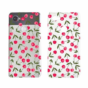 Cute Cherry Pattern Fruit Pattern Phone Case For Google Phone Pixel 2 Google Phone Covers Emerishop (Google Pixel 2)