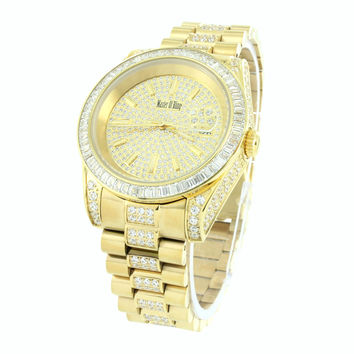 18K Yellow Gold Mens Watch Stainless Steel  Presidential 41mm
