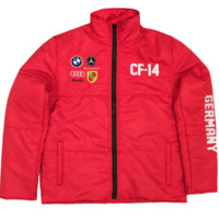 Club Foreign German Bubble Jacket In Red