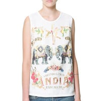 PRINTED TANK TOP - T-shirts - Woman - ZARA United States