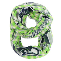 Seattle Seahawks Infinity Scarf - Plaid