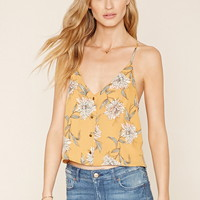 Contemporary Buttoned Floral Cami
