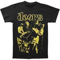 Doors Live Neon Yellow T-shirt - Doors - D - Artists/Groups - Rockabilia