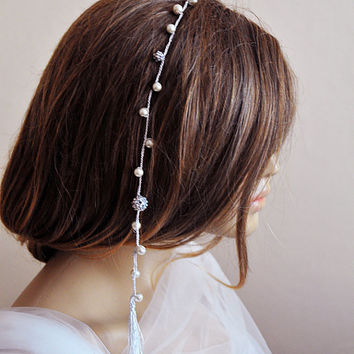 Crochet wedding accessories, Bridal hairpin, handmade, Crystal, rhinestone, girls hair pin, weddings, pearl, Hair Pins, etsy, gift ideas