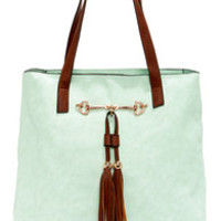 Two Peas in a Pod Mint Blue Tote