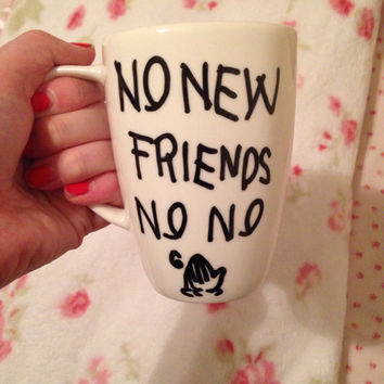 No New Friends No No Drake If You're Teading This Its Too Late Drizzy Coffee Cup Mug Funny