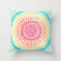 Radiate Throw Pillow by Tangerine-Tane