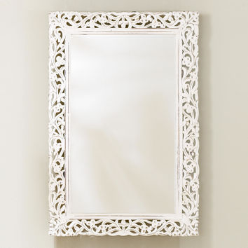 Segovia Whitewashed Mirror - World Market