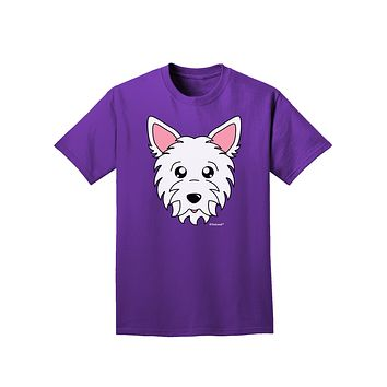 Cute West Highland White Terrier Westie Dog Adult Dark T-Shirt by TooLoud
