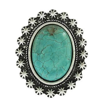Nellie Oval Star Turquoise Ring