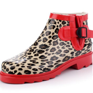 Korean Leopard Shoes Boots [4915341572]