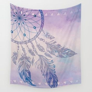 Reiki Charged Purple Dream Catcher Tapestry Wall Hanging Meditation Yoga Grunge Hippie