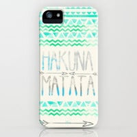 Hakuna Matata iPhone Case by Sara Eshak | Society6