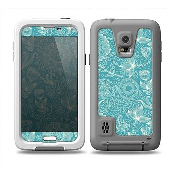 The Intricate Teal Floral Pattern Skin Samsung Galaxy S5 frē LifeProof Case
